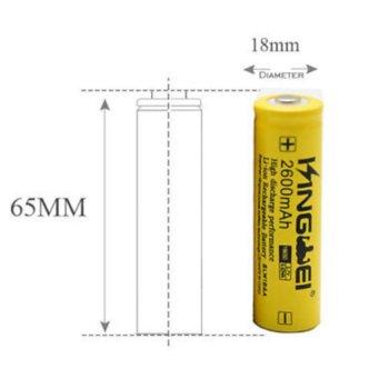 Акумулаторна батерия 040503222, 18650, 3.7V, 2600mAh, Li-Ion, 1 брой, с Пъпка image