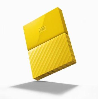 """Твърд диск 4TB Western Digital My Passport WDBYFT0040BYL(жълт), външен, 2.5"""" (6.35 cm), USB 3.0 image"""