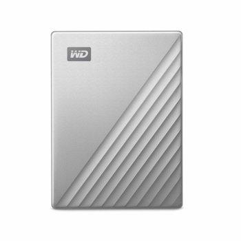 """Твърд диск 2TB Western Digital MyPassport Ultra (сребрист), външен, 2.5"""", USB-C image"""