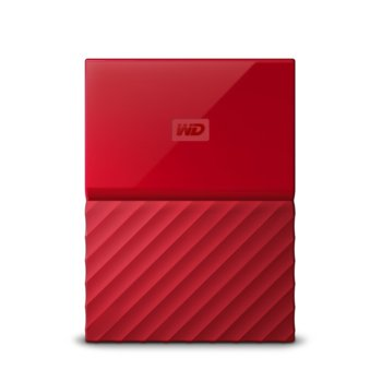"Твърд диск 3TB Western Digital MyPassport, външен, 2.5""(6.35cm), USB 3.0, червен image"