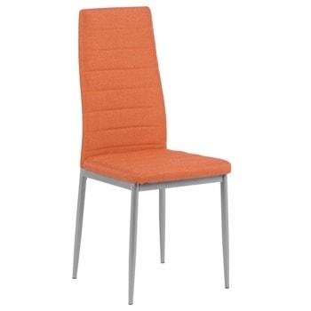 Трапезен стол Carmen 515, метална база, дамаска, прахово боядисан, оранжев image