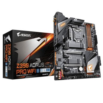 Дънна платка Gigabyte Z390 Aorus Pro Wi-Fi, Z390, 1151, DDR4, PCI-E(HDMI)(CF & SLI), 6x SATA 6Gb/s, 2x M.2 slot, 1x USB Type-C, RGB Fusion 2.0, ATX image