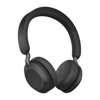 Слушалки Jabra Elite 45h (100-91800000-60), безжични, микрофон, Bluetooth, USB, до 50 часа време на работа, черни image