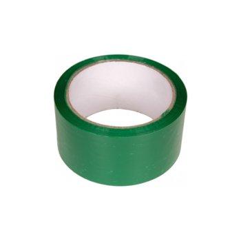 Цветно тиксо, подходящо за естествени и изкуствени тъкани, метал, дърво, мрежи, неопрен, пластмаси, ремъци, кожи, стъкла, въжета, гуми и други, широчина 4.8см, дължина 60м, зелено image