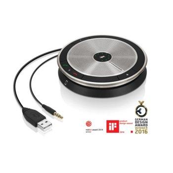 Конферентна слушалка Sennheiser SP 20, 1.0, предназначена за разговори, до 20 часа време за разговори, 3.5мм жак, USB image