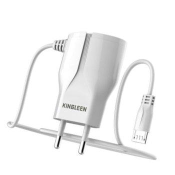 Зарядно устройство Kingleen C822E, от контакт към 1x USB-micro B(м), 5V/1.5A, бяло image