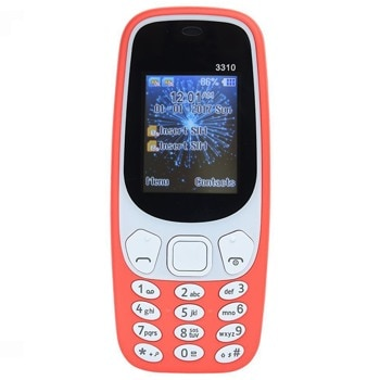 "GSM Nokia 3310 (2017)(различни цветове), поддържа 2 sim карти, 2.4"" (6.096 cm) QVGA дисплей, 16MB Flash памет (+microSD слот), 2.0 Mpix camera, Series 30+, 150g image"