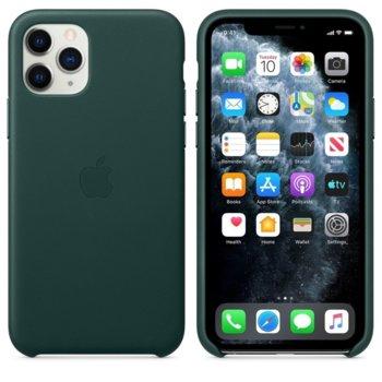 Калъф за Apple iPhone 11 Pro, естествена кожа, Apple Leather Case MWYC2ZM/A, зелен image