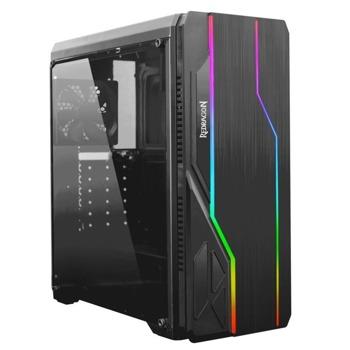 Кутия Redragon Devastator GC-550-BK, ATX/Micro ATX, 1x USB 3.0, 2x USB 2.0, прозорец, RGB подсветка, черна, без захранване image