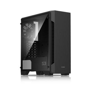 Кутия Zalman S3, ATX/mATX/Mini-ITX, USB 3.0, 1x 120mm вентилатор, черна, без захранване image