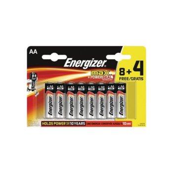 Батерия алкални Energizer MaxPower, AA, 8+4 броя, 1.5 V image