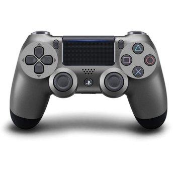 Геймпад PlayStation DualShock 4 V2 - Steel Black, безжичен, за PS4, черен image
