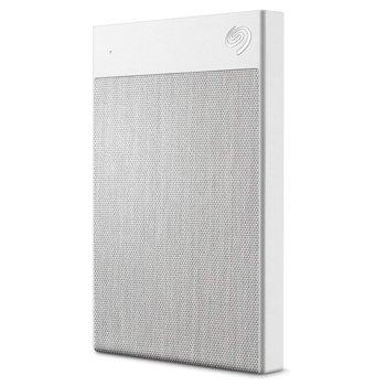 """Твърд диск 1TB, Seagate Backup Plus UltraTouch White STHH1000402 (бял), външен, 2.5"""" (6.38 cm), USB 3.0 image"""