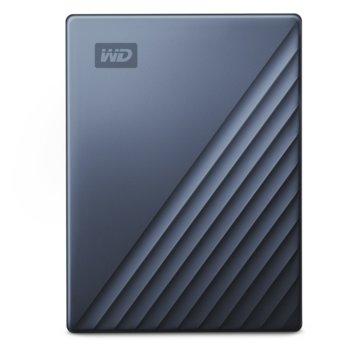 """Твърд диск 2TB WD MyPassport Ultra (син), външен, 2.5"""" (6.35 cm), USB-C 3.0 image"""