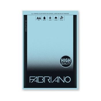 Копирна хартия Fabriano Copy Tinta, A4, 80 g/m2, небесносиня, 50 листа image