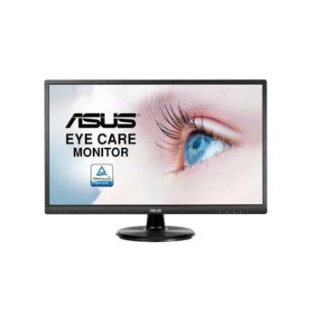 """Монитор Asus VA249HE (90LM02W1-B02370), 23.8""""(60.5cm) VA панел, Full HD, 5ms, 250 cd/m2, HDMI, VGA  image"""