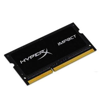 Памет 8GB DDR3L 1600MHz Kingston HyperX Impact SO-DIMM (HX316LS9IB/8) image
