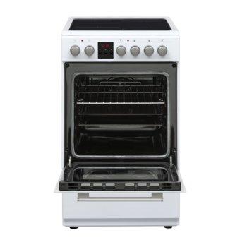 Готварска печка Sharp KF-56FVDD22WM-CH, енергиен клас A, 4 нагревателни зони, 50л. обем, 8 функции, цифров таймер, бяла image