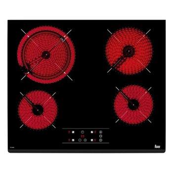 Стъклокерамичен плот за вграждане Teka TZ 6420, 4 нагревателни зони, автоматично изключване за безопастност, независимо програмиране на всяка зона, индикатор за остатъчна топлина, таймер, черен image