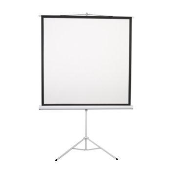 "Екран Lumi, на стойка, 200 x 200 cm, 96"" (243.84 cm); 1:1 image"
