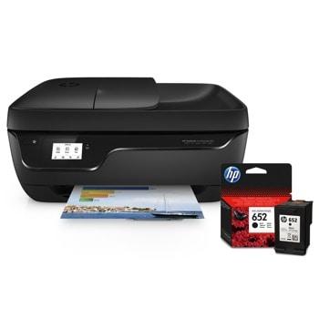 Мултифункционално мастиленоструйно устройство HP DeskJet Ink Advantage 3835 AiO (F5R96C) в комплект с Глава HP DeskJet Ink Advantage (F6V25AE), цветен принтер/скенер/копир/факс, 4800 x 1200 dpi, 8стр/мин, Wi-Fi, USB, ADF, A4 image