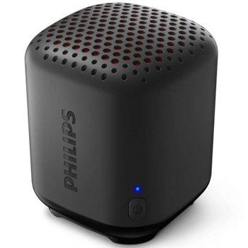 Тонколона Philips TAS1505B/00, 1.0, 2.5W, Bluetooth, черна, до 8ч. време на работа, 480 mAh батерия, IPX7 водоустойчива image