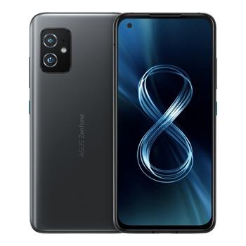 """Смартфон Asus Zenfone 8 (черен), поддържа 2 sim карти, 5.9"""" (14.98cm) Super Amoled дисплей, осемядрен Snapdragon 888 5G, 8GB RAM, 128GB Flash памет, 64.0 + 12.0 Mpix & 12.0 Mpix камери, Android, 169 g  image"""