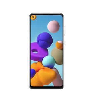"Смартфон Samsung Galaxy A21s SM-A217 (черен), поддържа 2 sim карти, 6.5"" (16.51 cm) HD+ дисплей, осемядрен Exynos 850 2.0 GHz, 3GB RAM, 32GB Flash (+ microSD слот), 48.0 MP + 8.0 MP + 2.0 MP + 2.0 MP & 13.0 MP camera, Android image"