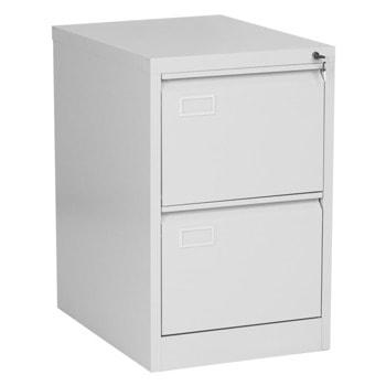 Кардекс Carmen CR-1230 L, 2x чекмеджета, прахово боядисан, метален, заключване, сив image