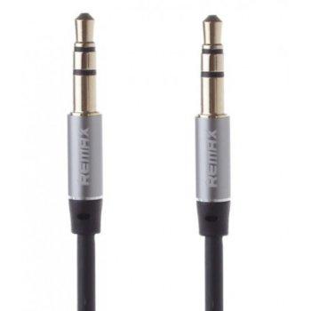 Аудио кабел Remax Jack(м) 3.5mm TRS към Jack(м) 3.5mm TRS, 2m, черен/бял image
