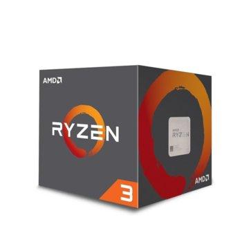 Процесор AMD Ryzen 3 1200, четириядрен (3.1/3.4GHz, 8MB L3 Cache, AM4) Box, с охлаждане Wraith Stealth image