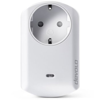 Измервателен контакт devolo 09807, измерва и записва консумираната електроенергия, Z-Wave безжичен стандарт, до 25 метра обхват в сгради/до 100 метра на открито, бял image