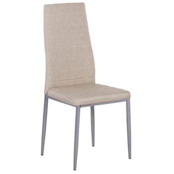 Трапезен стол Carmen 515, дамаска, бежов image