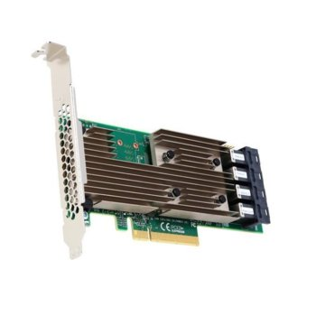 Контролер Broadcom SAS 9305-16i, от PCIe 3.0 x8 към 4x miniSAS HD SFF8643, 16x internal ports, 12Gb/s SAS image