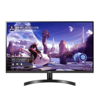 """Монитор LG 32QN600-B, 31.5"""" (80.01 cm) IPS панел, WQHD, 5ms, 1000:1, 350 cd/m2, DisplayPort, HDMI image"""