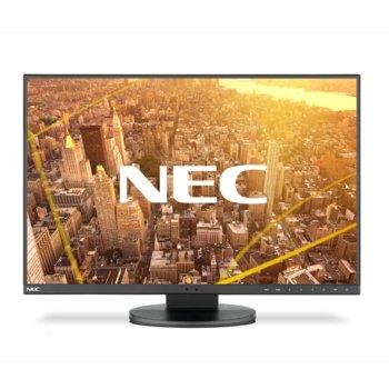 """Монитор NEC EA245WMi-2, 24"""" (60.96 cm) IPS панел, Full HD, 5 ms, 5000:1, 300 cd/m2, DisplayPort, HDMI, DVI-D, VGA image"""