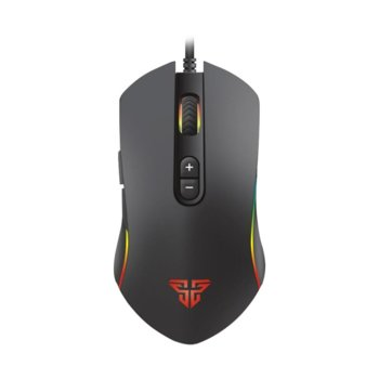 Мишка FanTech Thor X9 Macro, оптична (4800 dpi), USB, черна, 7 програмируеми бутона, гейминг, подсветка image