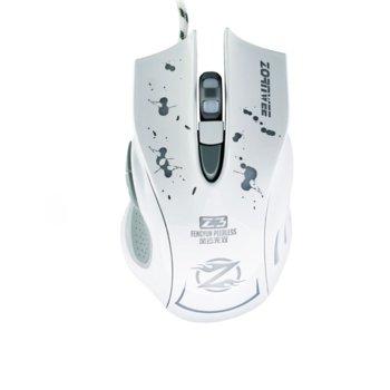 Мишка ZornWee Z3, оптична, 1600 DPI, USB, подсветка в 7 цвята, бяла, гейминг image