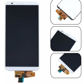 Дисплей за Huawei Y7 2018 / Y7 Prime 2018 с тъч, бял image