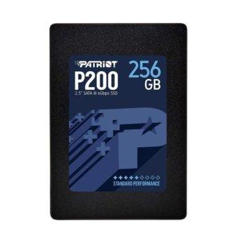 """Памет SSD 256GB, Patriot P200S256G25, SATA3 6Gb/s, 2.5""""(6.35 cm), скорост на четене 530 MB/s, скорост на запис 460MB/s image"""