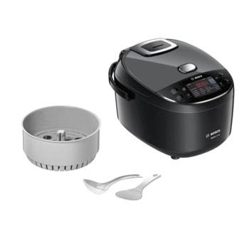 Мултифункционален уред за готвене Bosch MUC22B42RU, мощност 900 W, капацитет 4L, 48 програми, кошница за пара, функция подгряване, черен image