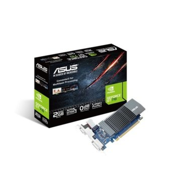 Видео карта Nvidia GeForce GT 710, 2GB, Asus GeForce GT710, PCI-E 2.0, GDDR5, 64 bit, HDMI, DVI, VGA image