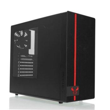 Кутия Riotoro CR488, ATX/mATX/mITX, 2х USB 3.0, прозорец, черна, без захранване image