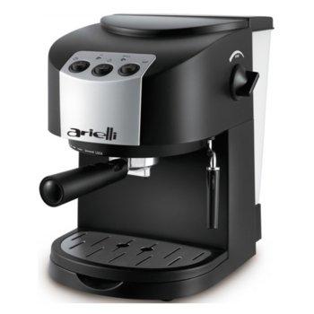 Ръчна еспресо машина Arielli KM-130BS, 1050W, 1.5 л. воден резервоар, 15 бара налягане, черна image