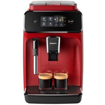 Автоматична еспресо кафемашина Philips EP1222/00, 15 bar, 1.8 литра, 12 настройки на мелачката, червена image