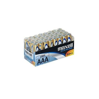 Батерия алкална Maxell ML-BA-LR03-32PK, AAA, LR03, 1.5V, 32бр. image