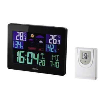 Електронна метеостанция HAMA EWS-1400, термометър, тигрометър, черен image