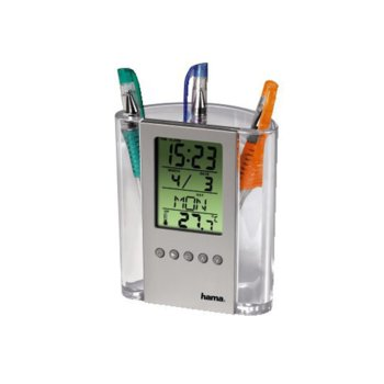 Цифров термометър HAMA 75299, kалендар, aларма, с моливник image