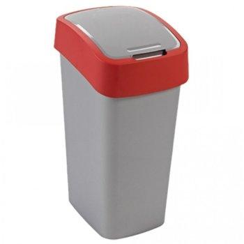 Кошче за отпадъци, с люлеещ капак, червено image