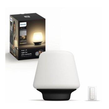 LED настолна лампа Philips Hue 40801/30/P7, 60W, 806 lm, 4 варианта за осветление, ZigBee Light Link, черна image